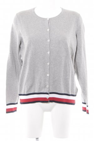 Tommy Hilfiger Strickjacke hellgrau Casual-Look