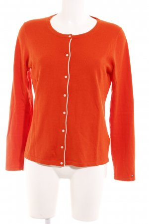 Tommy Hilfiger Strickjacke orange-weiß Casual-Look