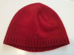 Tommy Hilfiger Knitted Hat neon red wool