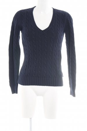 Tommy Hilfiger Strickpullover neonblau Zopfmuster Business-Look