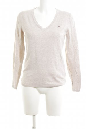 Tommy Hilfiger Strickpullover creme meliert Casual-Look