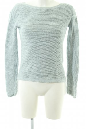 Tommy Hilfiger Strickpullover türkis Zopfmuster Casual-Look