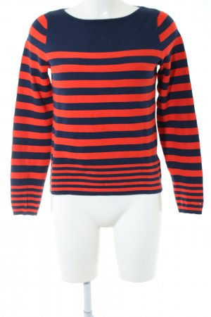 Tommy Hilfiger Strickpullover rot-blau Streifenmuster Casual-Look