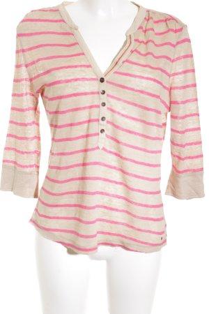 Tommy Hilfiger Strickpullover beige-pink Streifenmuster Casual-Look
