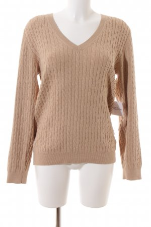 Tommy Hilfiger Strickpullover beige Zopfmuster Casual-Look