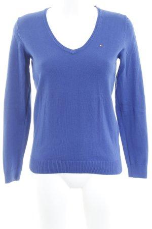Tommy Hilfiger Gebreide trui blauw Geborduurd logo
