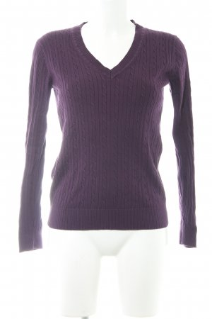 Tommy Hilfiger Strickpullover brombeerrot Casual-Look