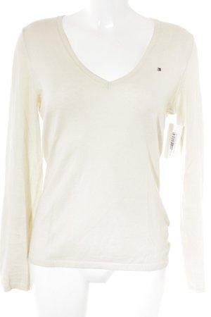 Tommy Hilfiger Maglione lavorato a maglia crema stile minimalista