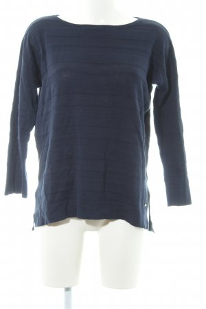 Tommy Hilfiger Strickpullover dunkelblau Ringelmuster Casual-Look