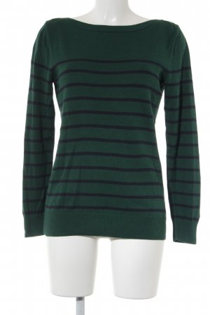 Tommy Hilfiger Knitted Sweater dark green-dark blue striped pattern casual look