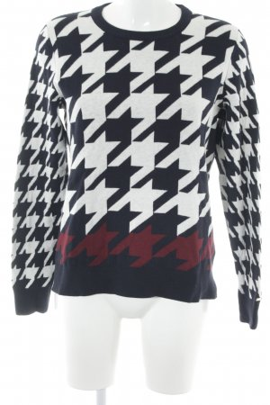 Tommy Hilfiger Strickpullover Hahnentrittmuster Casual-Look