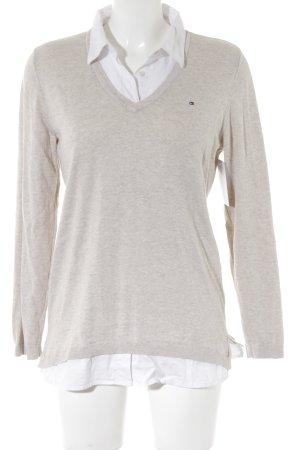 Tommy Hilfiger Pull tricoté beige clair-blanc style décontracté