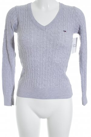 Tommy Hilfiger Knitted Sweater light grey cable stitch casual look