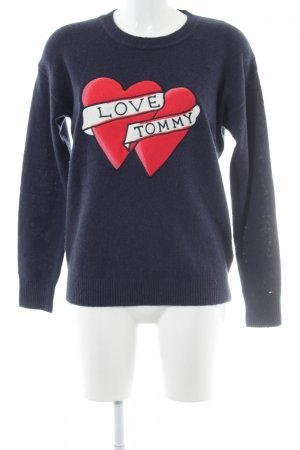 Tommy Hilfiger Strickpullover Herzmuster Casual-Look