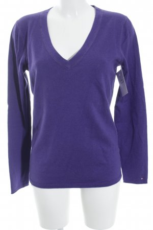 Tommy Hilfiger Strickpullover lila Casual-Look