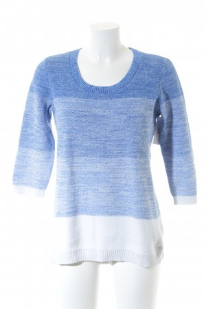 Tommy Hilfiger Knitted Sweater neon blue-white flecked sailor style