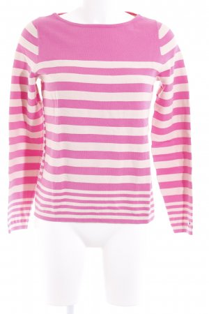 Tommy Hilfiger Strickpullover pink-creme Streifenmuster Casual-Look