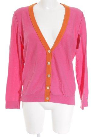 Tommy Hilfiger Strickpullover pink-neonorange Street-Fashion-Look