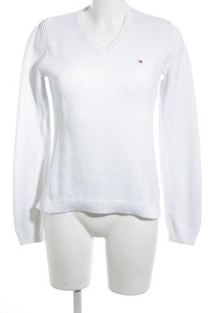 Tommy Hilfiger Maglione lavorato a maglia bianco stile casual