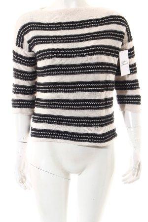 Tommy Hilfiger Pull tricoté blanc-noir style classique