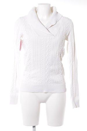 Tommy Hilfiger Maglione lavorato a maglia bianco-bianco sporco stile casual