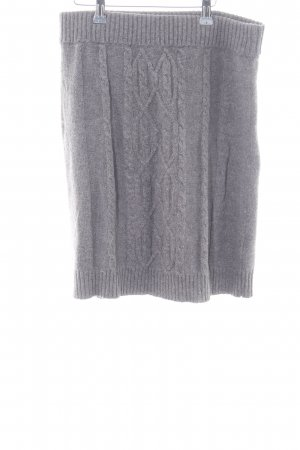 Tommy Hilfiger Knitted Skirt light grey cable stitch casual look