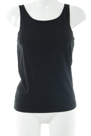Tommy Hilfiger Top lavorato a maglia nero stile casual