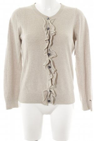 Tommy Hilfiger Strickweste creme-beige Casual-Look