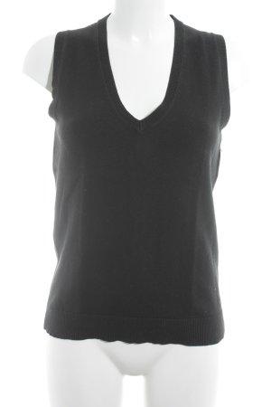 Tommy Hilfiger Gilet tricoté noir style décontracté