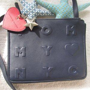 Tommy Hilfiger * Süße Crossbody Logo story small Tasche * dunkelblau * wNEU