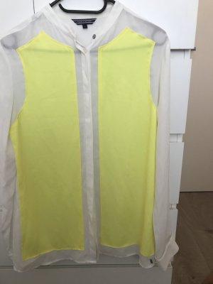 Tommy Hilfiger Blouse transparente jaune fluo-blanc