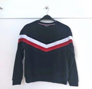 Tommy Hilfiger Sweater Sweatshirt S Neu Etikett navy rot weiß Streifen