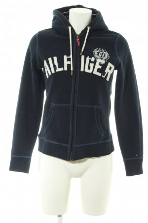 Tommy Hilfiger Sweat Jacket blue-white embroidered lettering casual look