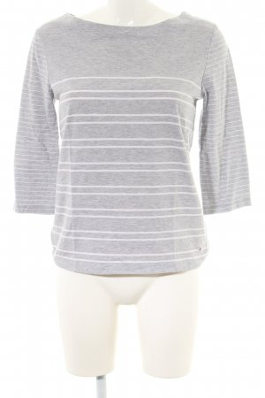 Tommy Hilfiger Sweatshirt hellgrau-weiß Streifenmuster Casual-Look