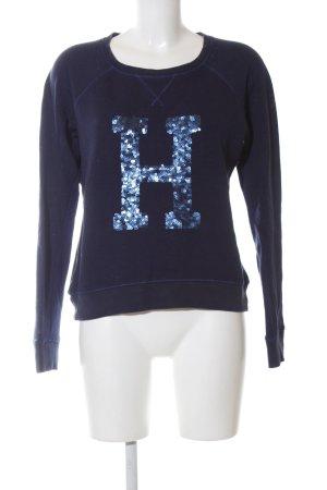 Tommy Hilfiger Sweatshirt blau Schriftzug gedruckt Casual-Look