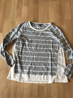 Tommy Hilfiger Jersey de cuello redondo gris claro-blanco puro