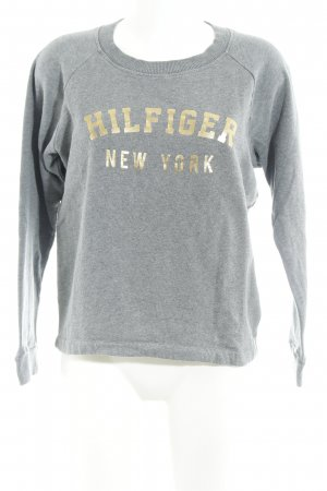 Tommy Hilfiger Sweatshirt grau-goldfarben Motivdruck Casual-Look