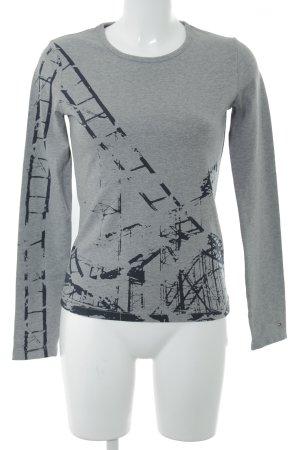 Tommy Hilfiger Sweatshirt grau-schwarz Motivdruck Casual-Look