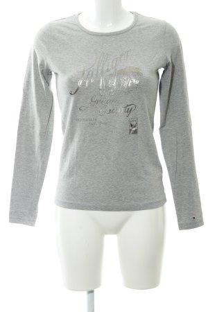 Tommy Hilfiger Sweatshirt hellgrau abstrakter Druck Casual-Look
