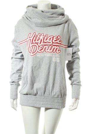 Tommy Hilfiger Sweatshirt hellgrau Schriftzug gedruckt Casual-Look