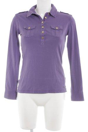 Tommy Hilfiger Sweatshirt lila Webmuster Casual-Look