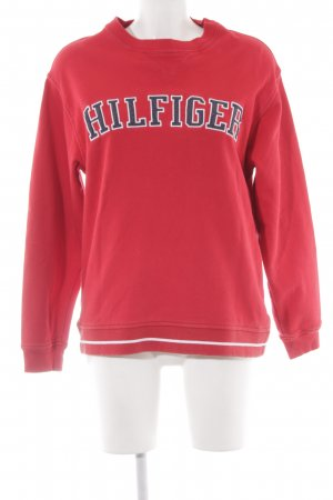 Tommy Hilfiger Sweatshirt rot College-Look