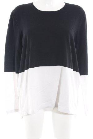 Tommy Hilfiger Sweatshirt weiß-dunkelblau schlichter Stil