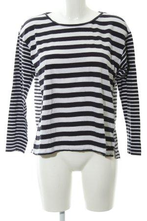 Tommy Hilfiger Sweatshirt weiß-schwarz Ringelmuster Casual-Look
