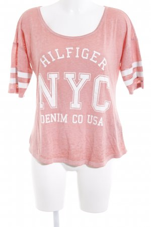 Tommy Hilfiger T-Shirt apricot Motivdruck Casual-Look