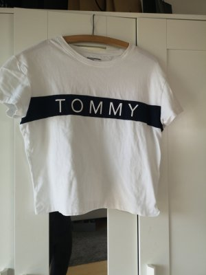 Tommy Hilfiger T-Shirt blau weiß XS