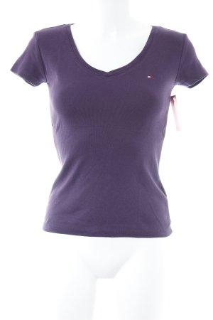 Tommy Hilfiger T-Shirt braunviolett sportlicher Stil
