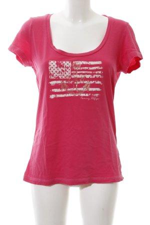 Tommy Hilfiger T-Shirt pink Motivdruck Business-Look
