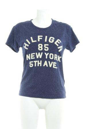 Tommy Hilfiger T-Shirt dunkelblau-creme platzierter Druck Casual-Look