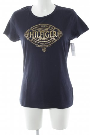 Tommy Hilfiger T-shirt blu scuro-oro Stampa a tema stile casual